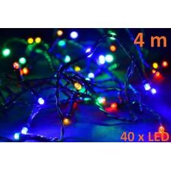 Vianočné LED osvetlenie 4 m - farebné, 40 diód