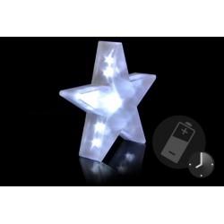 Vianočná dekorácia - Svetelná hviezda - 20 LED, 35 cm