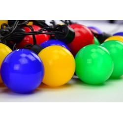 Farebné párty osvetlenie – vonkajšie – 40 LED