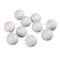 Loptičky na stolný futbal biele 10 ks 36 mm