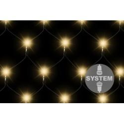 diLED svetelná sieť - 100 LED teplá biela