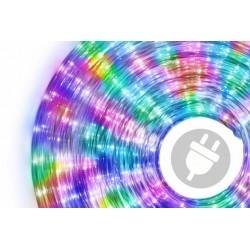 LED svetelný kábel 10 m - farebná, 240 diód