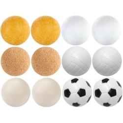 Exkluzívna sada 12 loptičiek ku stolnému futbalu, 35 mm