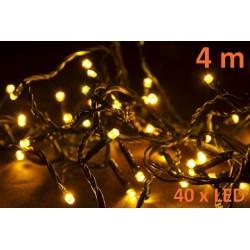 Vianočné LED osvetlenie 4 m - teplá biela, 40 diód