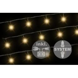 diLED svetelná reťaz - 100 LED teplá biela + napájanie