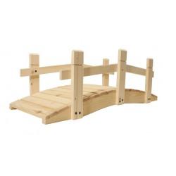 Záhradný drevený most bez povrchovej úpravy - 71 cm