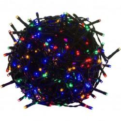 Vianočné LED osvetlenie 5 m - farebné 50 LED - zelený kábel