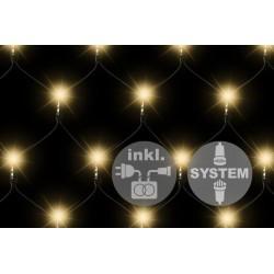 diLED svetelná sieť - 100 LED teplá biela + napájanie